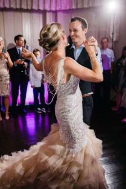 Bride and Groom having their first dance at Cleatham hall lincolnshire wedding venue
