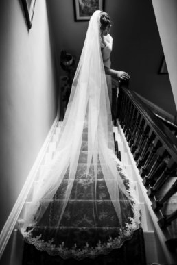 Bride taking those final steps before her wedding day