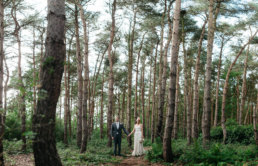 Bride and groom posing for a Lincolnshire wedding photographer