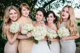 Newstead Priory wedding photography, lincolnshire wedding venue, photographer with bride and bridesmaids