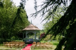 Outdoor ceremony location at Elsham hall